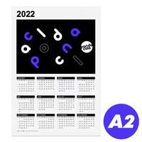 Calendrier publicitaire 2022 recto format A2 - Branford - Pandacola