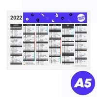 Calendrier bancaire 2022 rembordé personnalisable r/v A5 en carton rigide - Dili - Pandacola
