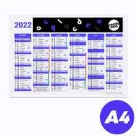 Calendrier bancaire 2022 rembordé publicitaire r/v A4 en carton rigide - Sizu - Pandacola