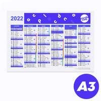 Calendrier bancaire 2022 rembordé personnalisé r/v A3 en carton rigide - Reyo - Pandacola