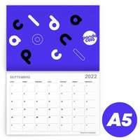 Calendrier 2022 agrafé mensuel personnalisable A5 de 24 pages 135 g/m² - Kayo - Pandacola