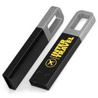 Clé USB publicitaire avec porte-clés mousqueton - Iron Hook Color - Pandacola