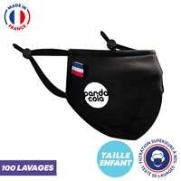 UNS1 enfant 100 lavages personnalisé forme Ninja - Masque grand public à filtration garantie supérieure à 93% - Masque forme ninja - Pandacola
