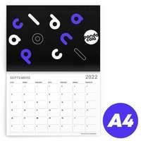 Calendrier 2022 agrafé mensuel publicitaire A4 de 24 pages 135 g/m² - Azor - Pandacola