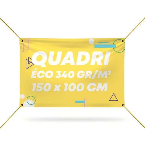Bâches et banderoles - Bâche personnalisée en PVC 340 gr/m² avec quadrichromie recto - Samara 150x100 cm - Pandacola