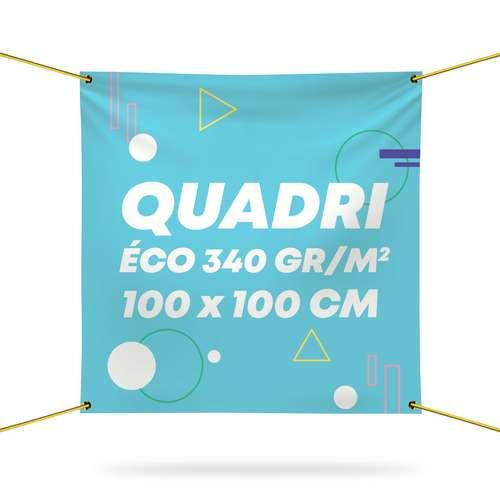 Bâches et banderoles - Bâche personnalisée en PVC 340 gr/m² avec quadrichromie recto - Samara 100x100 cm - Pandacola