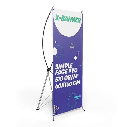 X-banners - X-banner publicitaire avec impression recto en quadrichromie - Kilis 60x160 cm - Pandacola
