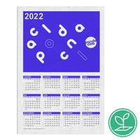 Calendrier publicitaire grille A4 à semer après utilisation en papier ensemencé- Hilu - Pandacola