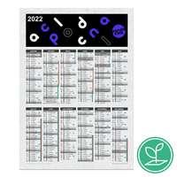 Calendrier publicitaire colonne A4 à semer après utilisation en papier ensemencé - Leva - Pandacola