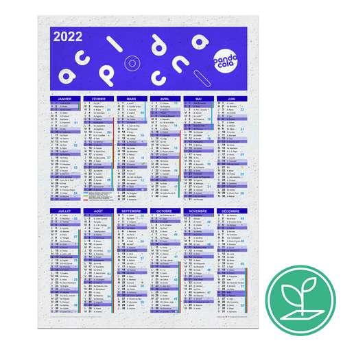 Papeterie à ensemencer - Calendrier publicitaire colonne A5 à semer après utilisation en papier ensemencé - Marli - Pandacola