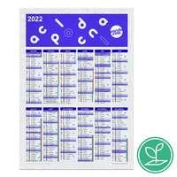 Calendrier publicitaire colonne A5 à semer après utilisation en papier ensemencé - Marli - Pandacola