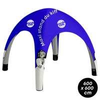 Tente  gonflable personnalisable - 6x6m - Pandacola