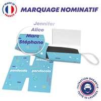 Masque UNS1 10 lavages + protège masque personnalisé et nominatif - Made in France - Pandacola