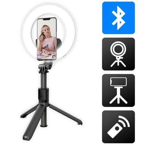 Perches selfie - Perche selfie publiciataire avec anneau lumineux | Akashi - Pandacola