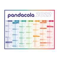 Calendrier bancaire cartonné 2022 personnalisable semestriel - 4 saisons - Pandacola