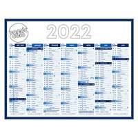 Calendrier bancaire 2022 à personnaliser semestriel - Standard - Pandacola