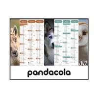 Calendrier bancaire 2022 personnalisable cartonné multi-taille thématique - Animaux - Pandacola