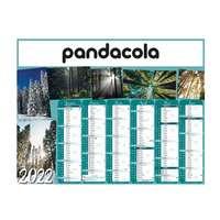 Calendrier bancaire 2022 personnalisable cartonné thématique - Forêt - Pandacola