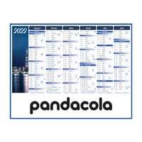 Calendrier bancaire 2022 personnalisable semestriel thématique - Nuit - Pandacola