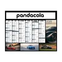 Calendrier bancaire 2022 publicitaire cartonné semestriel - Voitures - Pandacola