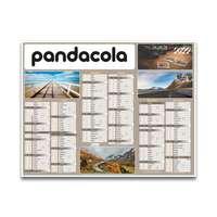 Calendrier 2022 bancaire personnalisé cartonné thématique - Road Trip - Pandacola
