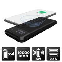 Batterie Powerbank avec charge à induction sans fil 10,000 mAh 2 Ports USB - Finition Soft Touch | Akashi - Pandacola