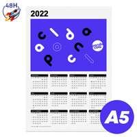 Calendrier publicitaire 2022 recto format A5 - Calhoun Express 48H - Pandacola