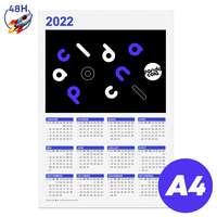 Calendrier personnalisable 2022 recto format A4 - Bonifay Express 48H - Pandacola