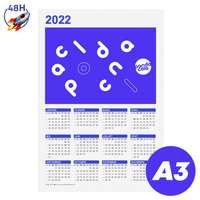 Calendrier personnalisé 2022 recto format A3 - Holmes Express 48H - Pandacola