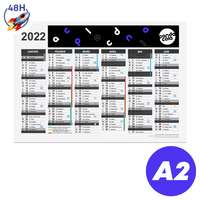 Calendrier publicitaire 2022 recto/verso format A2 - Bartow Express 48H - Pandacola