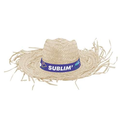 Chapeaux - Chapeau de paille promotionnel avec bandeau cousu sublimation - Deshi - Pandacola