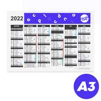 Calendrier publicitaire 2022 recto/verso format A3 - Archer - Pandacola