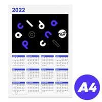 Calendrier personnalisable 2022 recto format A4 - Bonifay - Pandacola