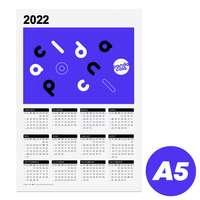 Calendrier publicitaire 2022 recto format A5 - Calhoun - Pandacola