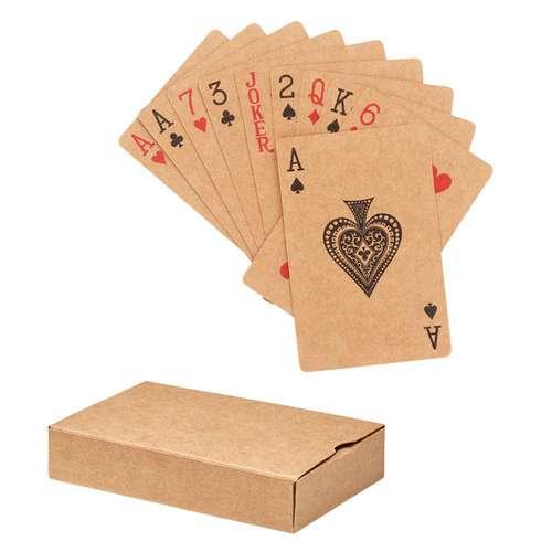 Jeux de 54 cartes - Jeu de 54 cartes en papier recyclé et boîte en papier recyclé personnalisable - Aruba+ - Pandacola
