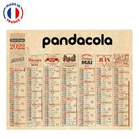 Calendrier bancaire personnalisable 2022 Vintage - Made in France - Pandacola