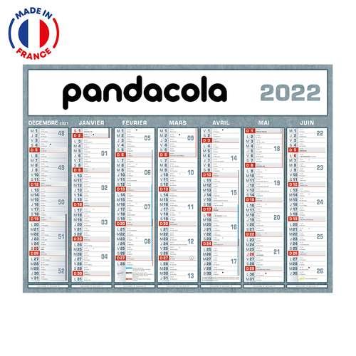 Calendrier bancaire - Calendrier bancaire personnalisable 2022 Classique - Made in France - Pandacola