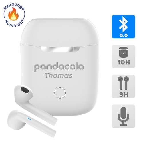 Ecouteurs - Ecouteurs nominatifs sans fil avec boitier de rechargement - Stereo | Akashi - Pandacola