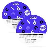 Calendrier rond publicitaire 2022 recto / verso couché brillant 250g²/m - Orel - Pandacola